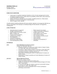 Agreeable Resume Sample Luxury Retail For Rodrigo Padilla Marketing Brand Director Of