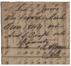 100 Archibald Jones Rare Gonzales County 1844 List Of Jurors