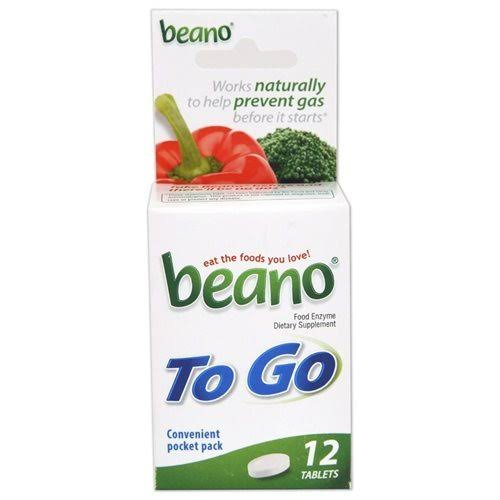 Beano To Go Food Enzyme Dietary Supplement - 12 Count