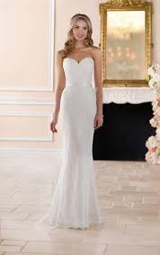 Sheath Long Full Lace Wedding Dress Simple y Lace Bridal Dress
