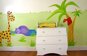décoration jungle chambre bébé sabine design sabine design peintures fresques murales enfants
