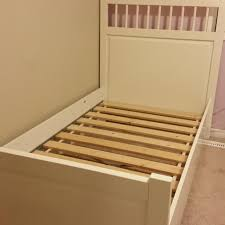 find more ikea hemnes twin bed frame in white 2 of them for sale