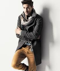 love the charcoal on the dark mustardy brown d and the scarf