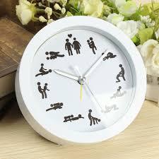 sexe au bureau nouveau mode drôle sexe horloge décoration de la maison drôle