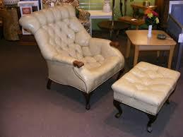 Sleepys Tufted Headboard by Carl Forslund Leather Sleepy Hollow Chair U0026 Ottoman Made Right