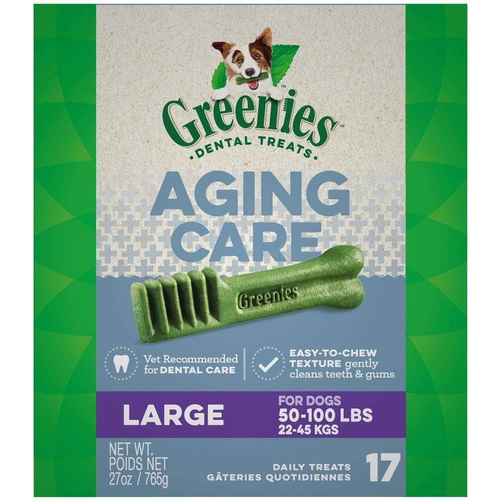 Greenies 10171890 Aging Care Dental Dog Treats - 27oz, 17ct