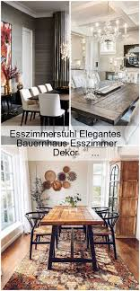 esszimmerstuhl elegantes bauernhaus esszimmer dekor