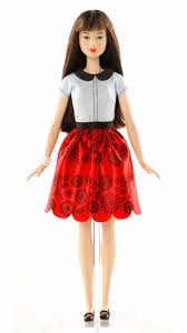 barbie fashionistas doll 19 ruby red floral original dgy61