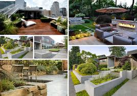5 Modern Landscaping Essentials For A Stylish Yard Contemporary Backyard Ideas Round Fire Pit And Concrete Patio For 94 Best Garden Ideas Images On Pinterest Small Garden Design Best 25 Modern Backyard Landscape Backyards Wonderful Design 15 Landscaping Home Contemporary Plants For Archives A Few Handy Tips Fniture