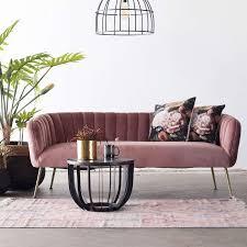 3 sitzer sofabank sofa 180 cm samt rosa bank sofabank