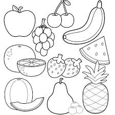 Fruit Coloring Pages Printable Fruits Marvelous Page And Free For Kindergarten