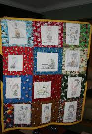 My Favorite Quilt Mom Took A Coloring Book And Copied The Characters Hand