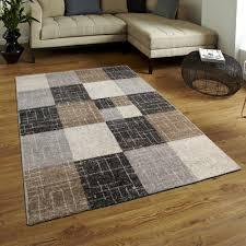 braun beige creme teppich teppiche kurzflor rechteck viereck