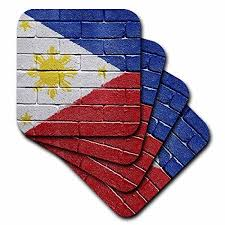 3drose national flag of philippines painted onto a brick wall