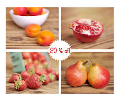 Fruit Wall Art Kitchen Pictures Colorful Photography Print Set Of 4 8x10 Red