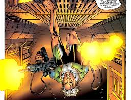 Marvel Boy Noh Varr Running On The Ceiling Dual Wielding Assault