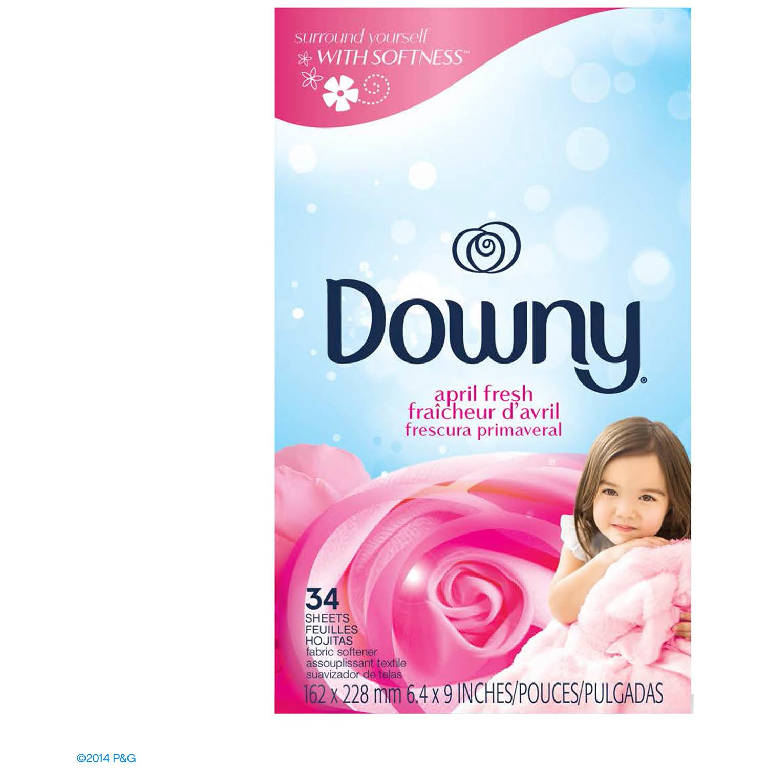 Downy April Fresh Fabric Softener Dryer Sheets - 80ct