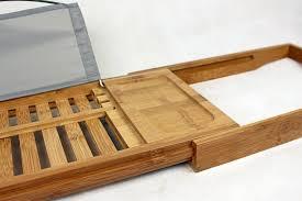 Bamboo Bathtub Caddy With Reading Rack by Bathtub Rack Shelf Shower Tub Book Reading Tray Holder Expandable