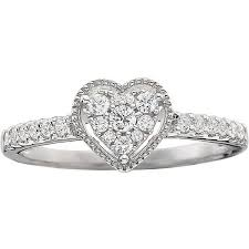 1 4 CT T W Diamond Heart Shaped Promise Ring $350 ❤ liked on