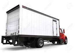 Red Refrigerator Truck - Back View Stock Photo, Picture And Royalty ...