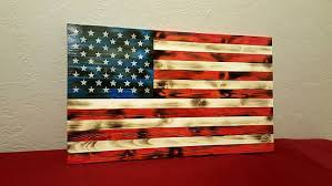 Rustic Wood American Flag Distressed