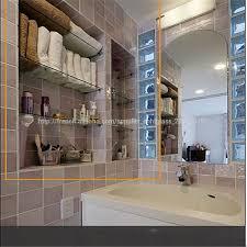 étagère en verre de salle de bains en laiton maquillage étagère
