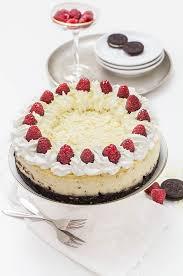 weisse schokolade himbeer cheesecake mit oreoboden