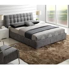 Outstanding Full Upholstered Bed Grey White Panel Gray Queen Black