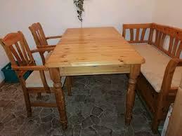 esszimmer bestehend aus tisch sitzbank und 2 stühle massiv
