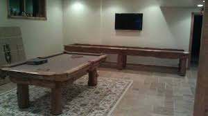 Let Us Create A Custom Rustic Country Shuffleboard Table For You Too Pool Combination