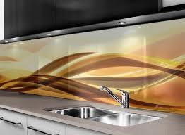 abstrakte welle glasplatten nach maß küchenrückwandglas