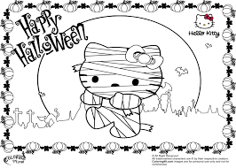 Halloween Coloring Pages Hello Kitty Free Printable Jpg
