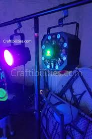 DIY Black Light GLOW PARTY idea NEON paint backdrop photo