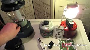 Gas Lamp Mantles Outdoor by Coleman Lanterns Gas Vs Led Youtube