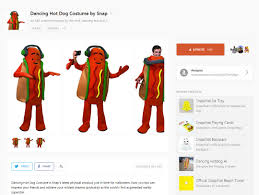 Halloween 2 1981 Online Castellano by Snapchat Is Selling A Dancing Hotdog Costume For Halloween