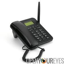 fixe sans fil 3g téléphone sms fonctionnalité bureau 1000mah