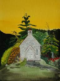 100 Bray Island Sandra Work Zoom 1st Church On Salt Spring BC 14x11