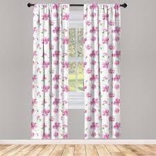 gardine fensterbehandlungen 2 panel set für wohnzimmer schlafzimmer dekor abakuhaus blumen blumenmuster land kaufen otto