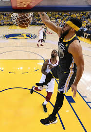 Golden State Warriors Center JaVale McGee Dunks Against The Cleveland Cavaliers During First Half Of Game 2 Basketballs NBA Finals In Oakland