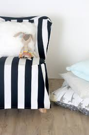 Poang Chair Cover Diy easy diy striped chair slipcover shelterness