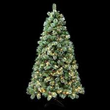 JTF Mega Discount Warehouse Cashmere Christmas Tree Fir Cone Berry Pre Lit Green 8ft