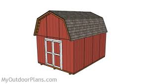 Saltbox Shed Plans 12x16 by 12x16 Barn Shed Plans Myoutdoorplans Free Woodworking Plans
