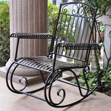 100 Black Wrought Iron Chairs Outdoor International Caravan Scroll Iron Metal Outdoor Rocker Master
