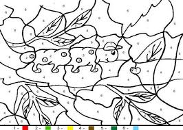 Caterpillar Color By Number Coloring Page