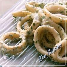 cuisiner l encornet anneaux d encornets à la crème de soja cuisine