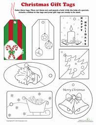 Christmas Gift Tags To Color