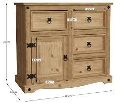 corona kleines sideboard tür 4 schubladen wohnzimmer