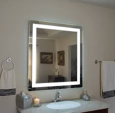 wall mounted lighted vanity mirror led mam83648