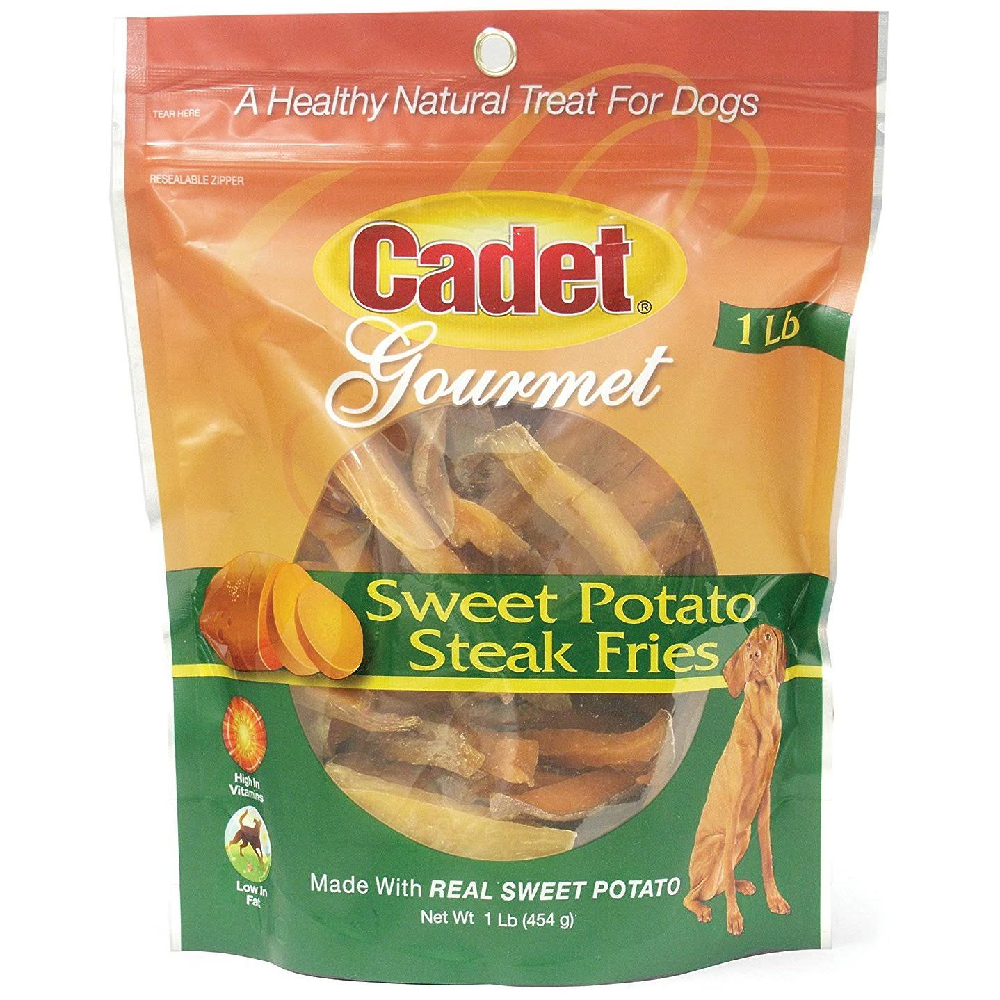 Cadet Gourmet Dog Treats - Sweet Potato Steak Fries, 454g