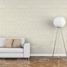 elegantes wohnzimmer 70er jahre stil mit sofa tapete hintergrund stockfoto und mehr bilder 1970 1979